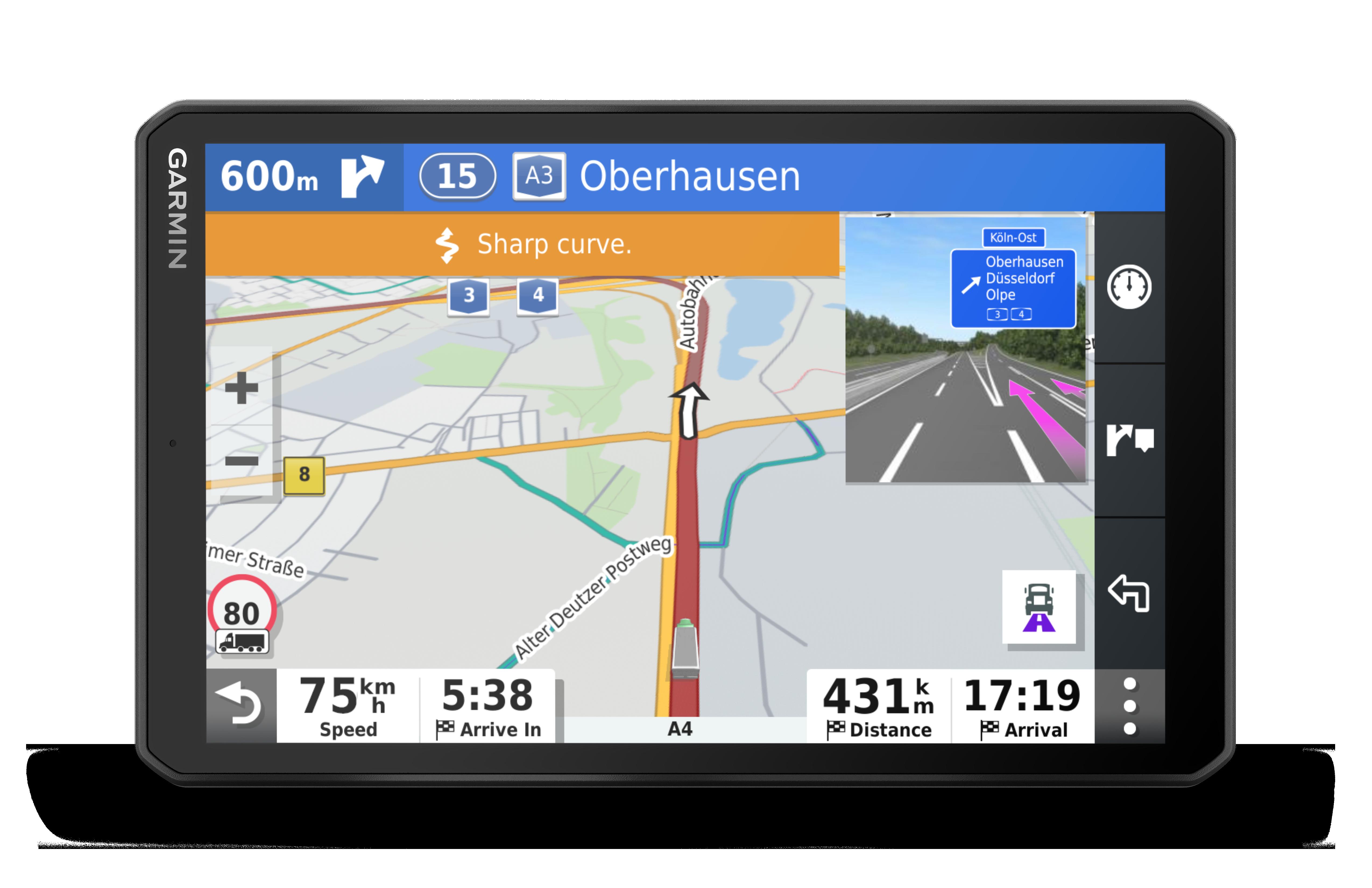 IHM understøtter Garmin  dezl™ navigator til lastbiler